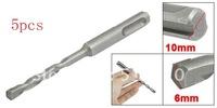 5pcs SDS Plus Shank 6mm Tip Width Stone Concrete Drill Bit