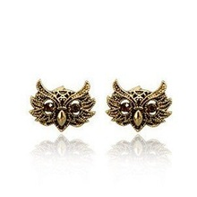 (Mnimum mix order is 10 usd ) E061 Fahion vintage Owl Earrings !Free shipping! cRYSTAL sHOP(China (Mainland))