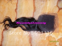"Wholesale 4""x4"" Lace Top Closure 18Inch natural wave Color 1# With light brown Lace color"