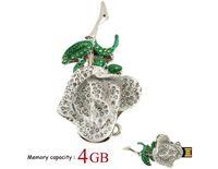 Crystal Rose Jewerly Diamond USB Flash Drive Memory Stick Thumb Pen 4GB/8GB/16GB/32GB