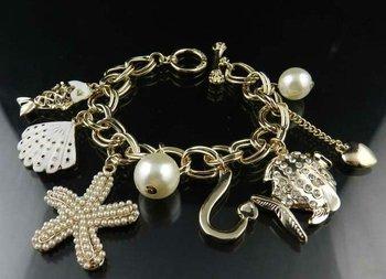 Pendants Bracelet Fashion Jewelry Sea World Funny Fish Pendants Free Shipping High Quality Gift Box#J8