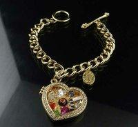 Charm Bracelet Fashion Jewelry Colorful Heart Photo Frame Pendants Free Shipping High Quality Gift Box#J11