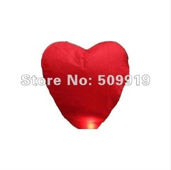 Hot sale 10PCS Red Heart Chinese Fire Sky Lanterns Wishing Balloon Birthday Wedding Christmas Party Lamp ,manufacturer selling(China (Mainland))