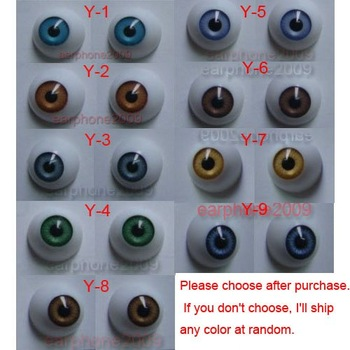 18 Pairs 20mm HALF ROUND ACRYLIC REBORN DOLL EYES for Reborn/BJD/OOAK Doll eyes