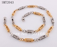 free shipping 316L stainless steel gold link necklaces men's italian titanium steel necklace chain man jewelry