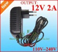 AC DC Adapter 12V 2A Power Supply DC 12V 2A 100pcs/Lot Europe EU Plug DHL free shipping