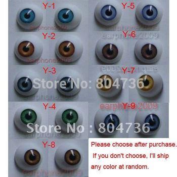 9 Pair 22mm HALF ROUND ACRYLIC REBORN DOLL EYES for Reborn/BJD/OOAK Doll eyes