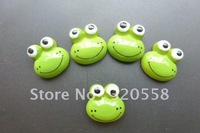 "0.6"" lovelyThe frog FlatBack Resins Scrapbooking Embellishment 50pcs Free Shipping"