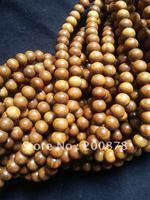 BRO695  Buddhist 108 Green Sandalwood prayer beads malas,6mm,good quality,natural wood beaded bracelets,best offer