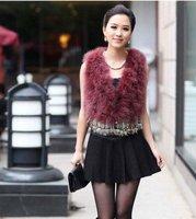 Hotsale: factory direct   Genuine Turkey  Fur  vest /lady Waistcoat tassels / Topsale