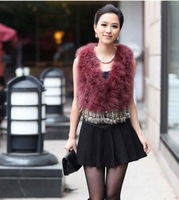 Hotsale: factory direct   Genuine Turkey  Fur  vest /lady Waistcoat tassels / Topsale
