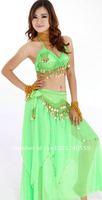 Belly Bance Women costume 3 pcs tops & dress & Hip Scarf Belt free shipping