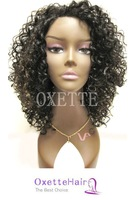 14 inch Small curly quality hair GLUELESS Full lace wig& front lace wig free shipping , #1, #1b, #2 ,#4 available