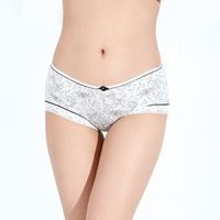 Fashion new Sexy temptation bamboo fibre women's panty,Transparent lace Ladies' underwear,4colors wholesale price PG1064