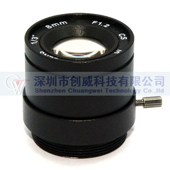 "CCTV LENS F1.2 8mm 1/3"" CS Mount Fixed IR CCTV Camera Lens"