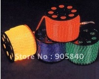 LED 4 wires flat rope light;36leds/m;DC12V/24V/AC110/220V are optional;yellow color