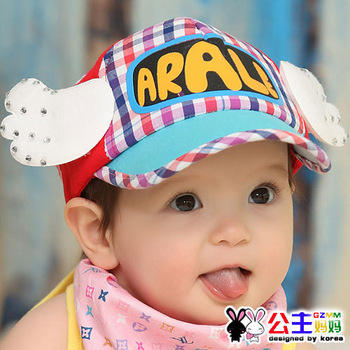 Princess spring and autumn hat baby cap baby baseball cap sun hat bonnet 3051 autumn baby's hats