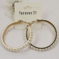 2012 new Simulated pearl Big Hoop earrings jewellery,Free shipping,Min Order $15