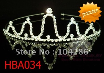 Rhinestone princess headband wedding jewelry crystal party hairband 60pcs/lot assorted styles free shipping