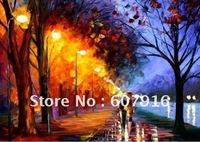 100% Handmade art Oil paintings on canvas - Evening on the way 24x36 inch