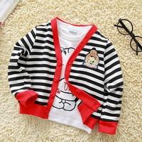 2012 autumn children's clothing newborn outerwear baby cardigan boys clothing female child thin cardigan