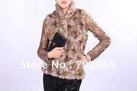 free shipping - fashion brown fur coat,fur jacket,good quality,free size