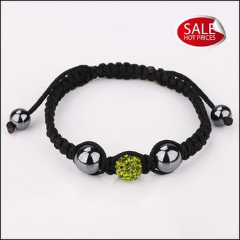 Newest Hot wholesale shamballa band custom wristband bracelet glow in the dark