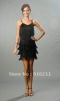 Custom Made 2012  New Chic Sweetheart Spaghetti Strap Short Fringe Homecoming Dresses