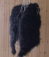 Factory direct Knitted Genuine Turkey vest/Turkey Feather Vest /lady waistcoat /Wholesale DROP SHIPPING