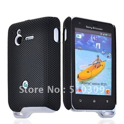 HARD RUBBERIZED MESH CASE COVER FOR XPERIA ACTIVE ST17i FREE SHIPPING(China (Mainland))