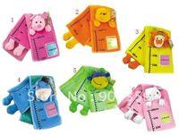 5pcs/lot baby early development plush toys,children/baby cartoon animal height ruler/kids height ruler Fabric ruler