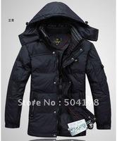 Best Selling Men's Down Coat Medium Long Down Jacket Velvet Fashion Warm Winter Jacket Cheap Outerwear Size M L XL XXL XXXL