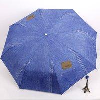 [ANYTIME] Japan Sanxiang Brand - Automatic Sun Protection Anti-uv Classic Denim Umbrella - Free Shipping - Alibaba Express