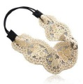 Wholesale Free shipping 20pcs/lot Wide White Lace Elastic Hairband Embroidery Kniting Headband