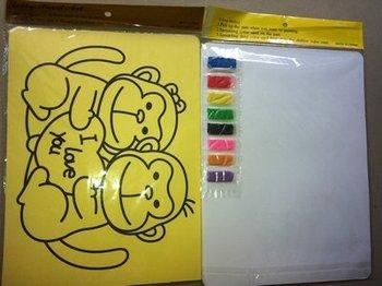 Free shipping 200pcs/lot  children's gift Color Sand art art painting set kit for children,WHOLESALE