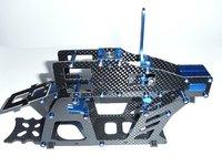 Carbon Main Frame Set For Align T-rex 450 SE V2 HS1243 Main shaft lock tail boom