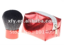 New Kabuki Face Blender Mineral Brush Red Powder brush(China (Mainland))