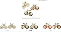Free shipping~2012 New Arrivals Jewelry Fashion jewelry beautiful gold plated Cute Bike Bicycle Stud Earrings