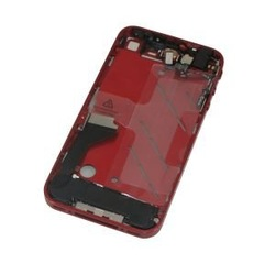 (Wholesale)For Iphone 4 GSM AT&T Midframe Plate Full Parts Assembly Mid Bezel Board Chassis Combo Red+ FREE SHIPPING(China (Mainland))