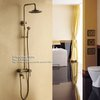 Antique Brass Finish Wall Mounted Single Handle Rain Fall Shower Faucet Set Mixer Tap