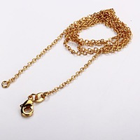 Free Shipping! Factory price 18K gold plated O style link chain can fit the pendant chain   Size:18 inch   new arrival