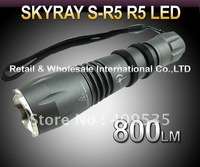 5PCS/LOT SKYRAY S-R5 Cree R5 800Lumens 5-Mode LED Flashlight Torch