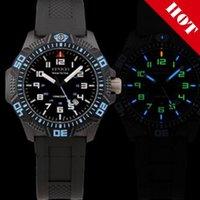 Wholesale Swiss Tritium gas tube Military Titanium Carbon Fiber Waterproof watches Sport Mens Watch