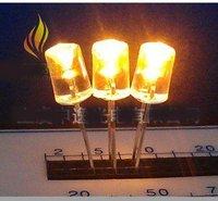 Bright  3000pcs/lot 5mm concave Amber  LED , Green led lighting,DCC05G14,Free shipping