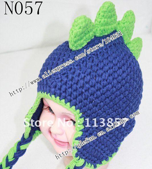 Crochet Dinosaur Hat Free Pattern Free shipping (20/lot )100% cotton ...