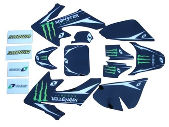 3M brand graphic for the crf50 dirt bike, pit bike decals cheap, hot selling brand stickers CRF50 XR50