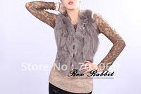 free shipping - fashion gray Rex Rabbit fur vest,fur jacket,good quality,free size