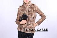 free shipping - fashion brown long fur coat good quality,free size
