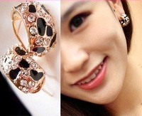 Min.order is $15 (mix order)2013 Fashion rhinestone earrings gold plated,stylish leopard stud earrings for women,Free shipping