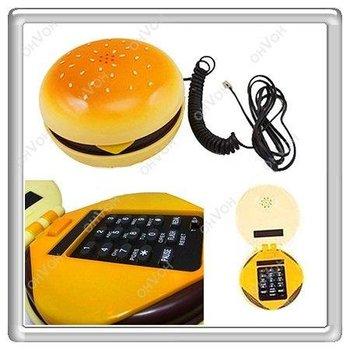 K5H Geek Hamburger Cheeseburger Burger Telephone Home Desktop Corded Juno Phone